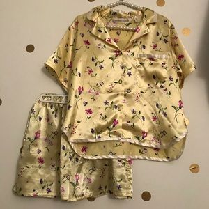 Vintage Victoria's Secret Short Floral Pajamas